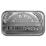 2013 1 oz Happy Retirement Silver Bar (w/Gift Box & Capsule)