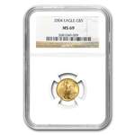 2004 1/10 oz Gold American Eagle MS-69 NGC
