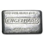 10 oz Engelhard Silver Bar (Wide, Poured) .999 Fine