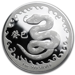Royal Australian 2013 Year of the Snake - 1 oz Silver (W/Box&Coa)