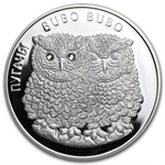 Belarus 2010 Proof Silver Eagle Owls - Bubo Bubo