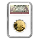 2012-W 1/2oz Proof Caroline Harrison NGC PF-70 UCAM