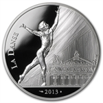 "2013 10 Euro Silver Proof ""7"" Arts Series - Rudolf Nureyev"