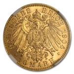 Germany (Saxony) 1904-E 10 Mark Gold MS-65 NGC