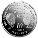 2013 10 Euro Silver Europa Series - 50th Anniv. of Élysée Treaty