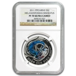 Pitcairn Islands Deep Sea Fish-PF-70 Ultra Cameo NGC - 4 Coin Set