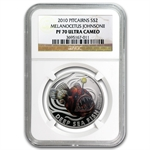 Pitcairn Islands 2010 Silver-Melanocetus Johnsonii-PF-70 UCAM NGC