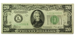 1934-B (L-San Francisco) $20 FRN (VF)