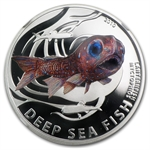 Pitcairn Islands 2010 Deep Sea Fish- Lanternfish - PF-70 UCAM NGC