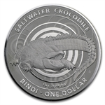 Australian Mint 2013 Silver Saltwater Crocodile- Bindi in Capsule