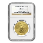 1994 1/2 oz Gold Mexican Libertad MS-68 NGC
