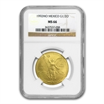 1992 1/2 oz Gold Mexican Libertad MS-66 NGC