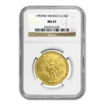 1993 1/4 oz Gold Mexican Libertad MS-67 NGC
