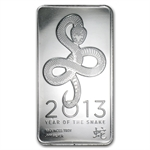 10 oz 2013 Year of the Snake Silver Bar .999 Fine