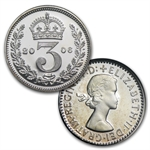 2006 Great Britain Queen Elizabeth II 80th B'day Silver Prf Set