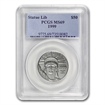 1999 1/2 oz Platinum American Eagle MS-69 PCGS