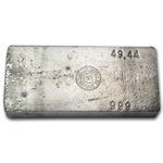 49.44 oz Yellow Daisy Refining Co. Silver Ingot Bar .999 Fine