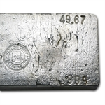 49.67 oz Yellow Daisy Refining Co. Silver Ingot Bar .999 Fine