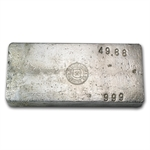 49.88 oz Yellow Daisy Refining Co. Silver Ingot Bar .999 Fine