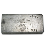 49.95 oz Yellow Daisy Refining Co. Silver Ingot Bar .999 Fine
