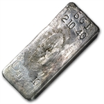 210.40 oz Engelhard Silver Bar (Poured, Loaf) .999 Fine