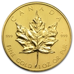 1980 1 oz Gold Canadian Maple Leaf