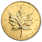 1981 1 oz Gold Canadian Maple Leaf