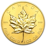1982 1 oz Gold Canadian Maple Leaf