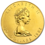 1982 1 oz Gold Canadian Maple Leaf - Brilliant Uncirculated