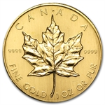 1983 1 oz Gold Canadian Maple Leaf