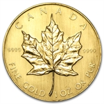 1984 1 oz Gold Canadian Maple Leaf