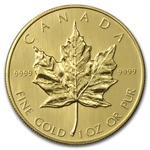 1985 1 oz Gold Canadian Maple Leaf