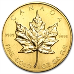 1986 1 oz Gold Canadian Maple Leaf