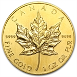 1990 1 oz Gold Canadian Maple Leaf - Brilliant Uncirculated