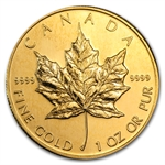 1992 1 oz Gold Canadian Maple Leaf - Brilliant Uncirculated
