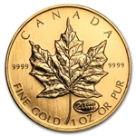 1999 1 oz Gold Canadian Maple Leaf