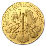 1991 1 oz Gold Austrian Philharmonic - Brilliant Uncirculated
