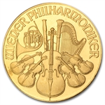 1992 1 oz Gold Austrian Philharmonic - Brilliant Uncirculated