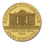 1993 1 oz Gold Austrian Philharmonic - Brilliant Uncirculated