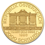 1996 1 oz Gold Austrian Philharmonic