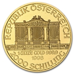 1998 1 oz Gold Austrian Philharmonic - Brilliant Uncirculated
