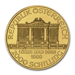 1999 1 oz Gold Austrian Philharmonic - Brilliant Uncirculated