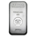 500 gram Geiger 'Security Line' Silver Bar .999 Fine