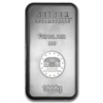 1000 gram Geiger 'Security Line' Silver Bar (1 kilo, Scruffy)