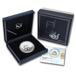 2013 China Lunar Snake 1 oz Silver Proof (W/Box & Coa)