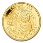 2013 1/4 oz Gold Canadian $25 Arctic Fox
