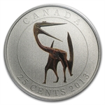 2013 Canadian $0.25 Glow in the Dark Dinosaur - Quetzalcoatlus
