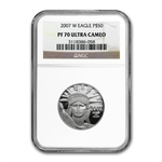 2007-W 4-Coin Platinum American Eagle Set NGC PF-70 Registry Set