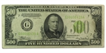 1934 (G-Chicago) $500 FRN (Very Fine+) LGS