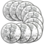 2013 1 oz Silver American Eagle (Lot of 10)
